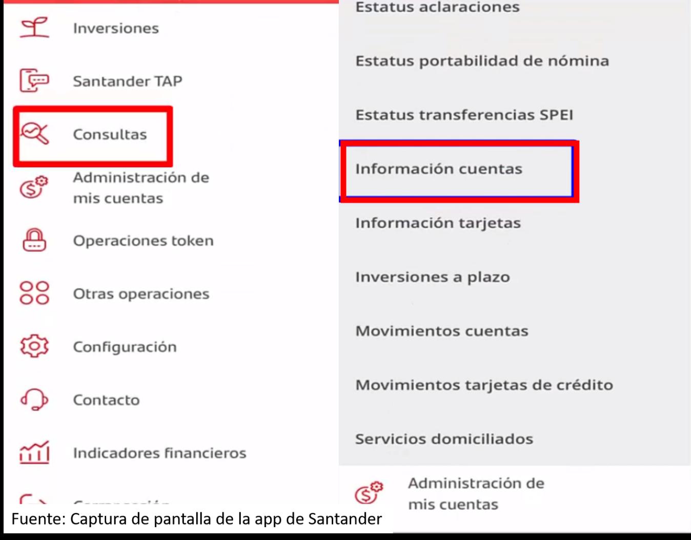 Cómo Ver Mi Clabe Interbancária De Santander Por App