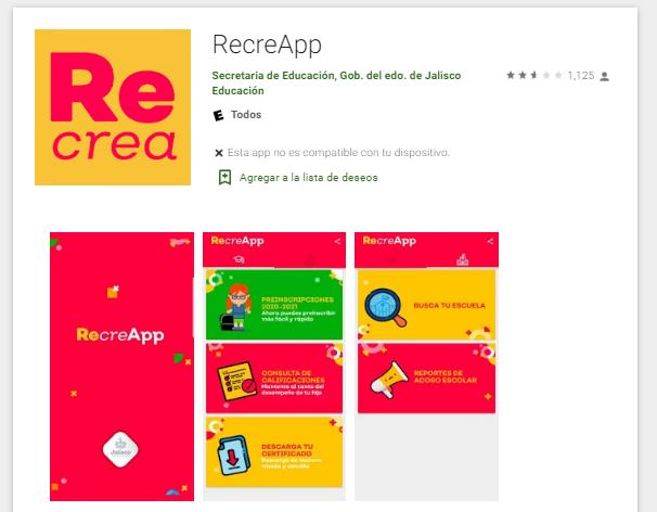 """La versión para Android se llama """"RecreApp"""""""